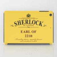 221b iPad Cases featuring Earl of 221B by Barn Bocock