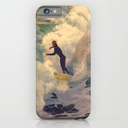 Riding the Sea iPhone Case