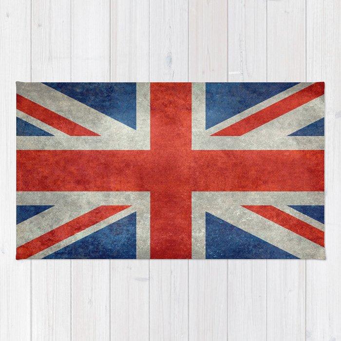British Flag Of The Uk Retro Style Rug
