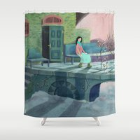 poem Shower Curtains featuring December Poem by Ofelia Yang