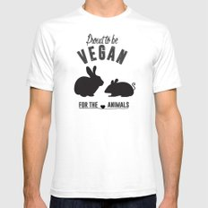 Proud to be Vegan Mens Fitted Tee SMALL White