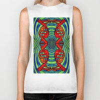dna Biker Tanks featuring DNA #2 by Art By Carob