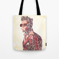 tyler durden Tote Bags featuring Tyler by Fimbis