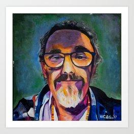 Portrait of the Artist Smirking Art Print