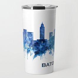 Baton Rouge Louisiana Skyline Blue Travel Mug