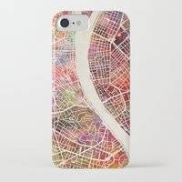 budapest iPhone & iPod Cases featuring Budapest  by MapMapMaps.Watercolors