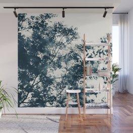 Blue Leaves #1 Wall Mural