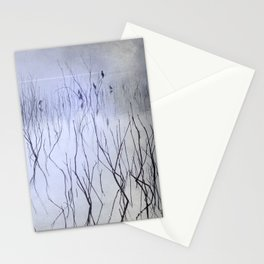 Cormorants in the fog Stationery Cards