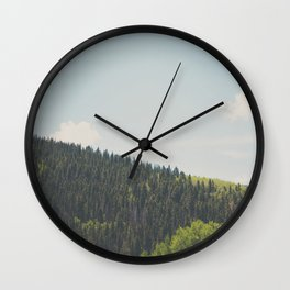 above the tree line in the Santa Fe National Forrest Wall Clock