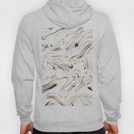 Liquid Gold Silver Black Marble #1 #decor #art #society6 Hoody