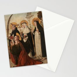 Juan de Borgoña - Mary Magdalene Saint Peter of Verona Saint Catharine of Sienna and Blessed Margare Stationery Cards