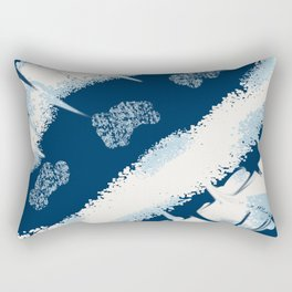 Smears Of Paint in navy an white Rectangular Pillow