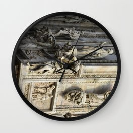 Milan Cathedral / Exterior Sculpture Study #4 / Piazza Duomo - Italy Wall Clock