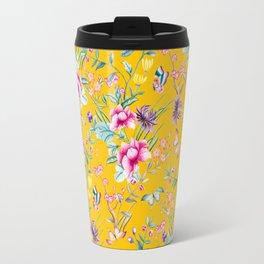 Floral Chinoiserie - Yellow Travel Mug