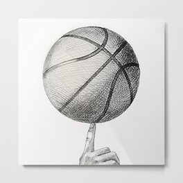 Basketball spin Metal Print
