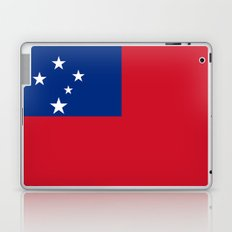 National flag of Samoa - Authentic version scale and color Laptop & iPad Skin