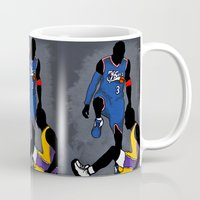lakers Mugs featuring The Step Over by nissa