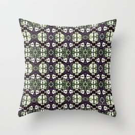 Eggplant Bloom Throw Pillow