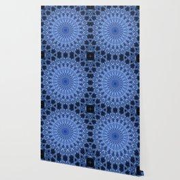 Cold blue mandala Wallpaper