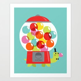 Mr. Turtle's Gumball Factory! Art Print