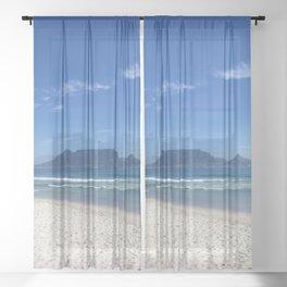 Table Mountain Cape Town Sheer Curtain