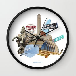 Kansas City Collage Wall Clock