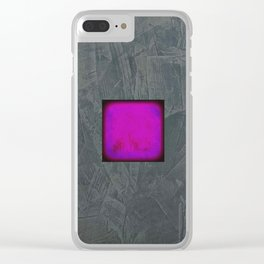 Slate Gray Lavender Fuschia Modern Art Clear iPhone Case