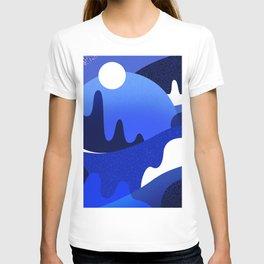 Terrazzo landscape blue night T-shirt
