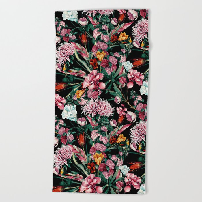 RPE SEAMLESS FLORAL IX Beach Towel