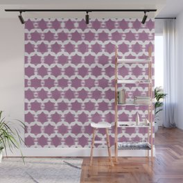 Hexagram Pattern: Purple Wall Mural