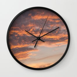 Epic Clouds at Sunset Wall Clock