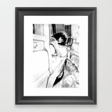 On The Road Framed Art Print