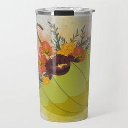 Autmn Floral Umbrella Travel Mug