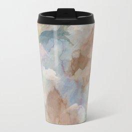 Earth Color Watercolor Abstract Travel Mug