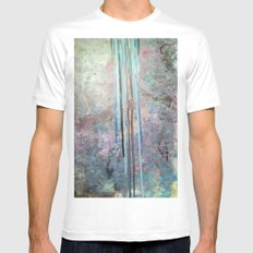 Free Falling White Mens Fitted Tee SMALL