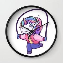 Unicorn jumping rope Sport Gift Wall Clock