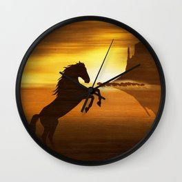 The wild mustang Wall Clock