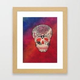 DragonFly & Heart Day of the Dead / Dia de los Muertos Series Framed Art Print