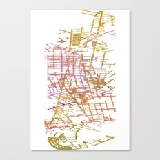 NYC Map lines Canvas Print