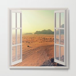 Arid Barren Dawn | OPEN WINDOW ART Metal Print