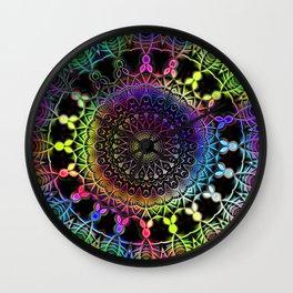 Rainbow Kaleidoscope Mandala Wall Clock