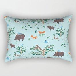 Oak Trees in Forest Rectangular Pillow