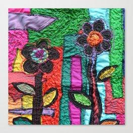 Multi-colour flowers Canvas Print