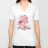 hetalia V-neck T-shirts featuring Matthew Willams, Canada day! by Camille Dion-Bolduc