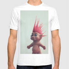 troll Mens Fitted Tee SMALL White