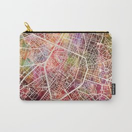Brussels map Carry-All Pouch