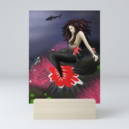The Red Mermaid Mini Art Print