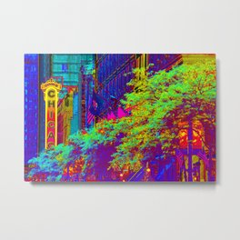 Chicago Theater Rainbow Metal Print