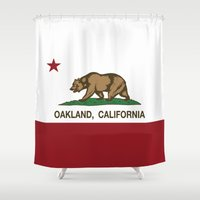 oakland Shower Curtains featuring Oakland California Republic Flag by NorCal