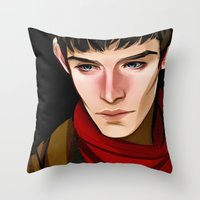 merlin Throw Pillows featuring Merlin by MJ Erickson